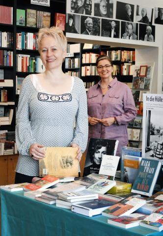 Ulrike Draesner und Sabeth Vilmar. Foto von Tobias Bohm.